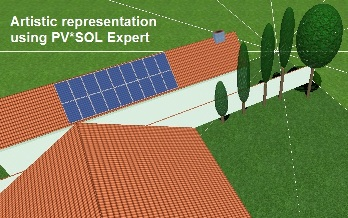 The Solar Design Company office visualised in PV*SOL Expert